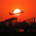 B747 Sunset Take-off by Graham Taylor