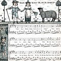 Baa Baa Black Sheep Antique Music Score by Anne Kitzman