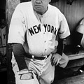 Babe Ruth In The New York Yankees by Everett
