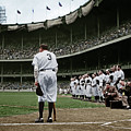Babe Ruth The Sultan Of Swat Retires At Yankee Stadium Colorized 20170622 by Wingsdomain Art and Photography