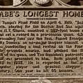 Babes Longest Homer by David Lee Thompson