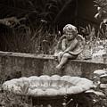 Baby Angel Ponders  by Lorraine Devon Wilke