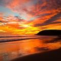 Baby Blue And Tangerine Sky by JoJo Brown