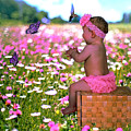 Baby In A Field Of Flowers by Ericamaxine Price