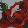 Baby In A Rose by Catt Kyriacou