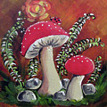 Baby Mushrooms by Roseann Amaranto