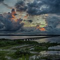 Back Bay Sunrise by R Michelle Stewart