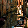 Back Canal In Venice by Michael Henderson