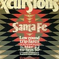 Back East Xcursions - Santa Fe, Mexico - Indian Detour - Retro Travel Poster - Vintage Poster by Studio Grafiikka