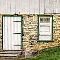 Back Entrance To An 1803 Amish Corn Barn  -  1803pacornbarn172779 by Frank J Benz