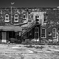 Back Lot - Bw by Christopher Holmes