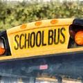 Back To School Bus Watercolor by Edward Fielding