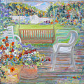 Backyard Porch by Laurie Hill Phelps