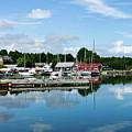 Baddeck Harbor Panorama by Gene Norris