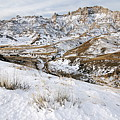 Badlands In Snow by Larry Ricker
