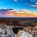 Badlands Np Pinnacles Overlook 3 by Donald Pash