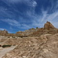 Badlands View From A Trail by Christiane Schulze Art And Photography