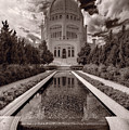 Bahai Temple Reflecting Pool by Steve Gadomski