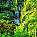 Bahamas - Tropical Waterfall by Susan Savad