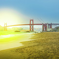 Baker Beach In San Francisco by Benny Marty
