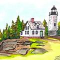 Baker Island Bar Harbor Maine by Paul Meinerth