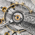 Balance Wheel Of An Antique Pocketwatch by Jim Hughes
