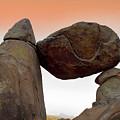 Balanced Rock Orange by Rospotte Photography