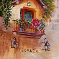 Balcony In Bloom by Elena Sokolova