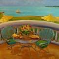 Balcony View On Milton Island by Leslie Dobbins