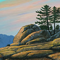 Bald Rock At Sunset by Frank Wilson