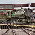 Baldwin Locomotive On The Turntable by Kristia Adams