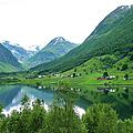 Balestrand Lake Village by Norma Brandsberg
