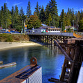 Balfour Bc Docks And Ferry  by Lee Santa