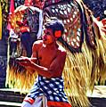 Bali Barong And Kris Dance  - Paint by Steve Harrington