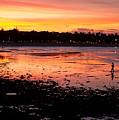 Bali Fisherman Sunset by Mike Reid