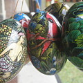 Bali Wooden Eggs Artwork by Mark Sellers