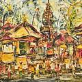 Balinese Ceremony  by Men  Sagan