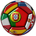 Ball With Flag Of Portugal In The Center by Michal Boubin