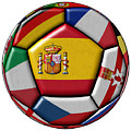 Ball With Flag Of Spain In The Center by Michal Boubin