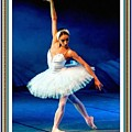 Ballerina On Stage L B With Alt. Decorative Ornate Printed Frame. by Gert J Rheeders