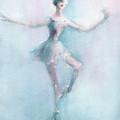 Ballerina Pastel Pink And Blue by Beverly Brown