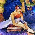 Ballerina Preparing For Performance by Humphrey Isselt