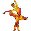 Ballerina Silhouette Dancing Fire by Irina Sztukowski