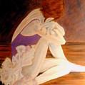 Ballerina04 - Acrylic by Donna Hanna
