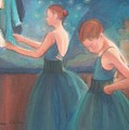 Ballerinas In Blue Backstage by Diane Caudle