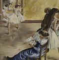 Degas' Ballet Class 1881 by James Lavott