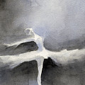 Ballet Dancer In White Tutu Watercolor Paintings Of Dance by Beverly Brown