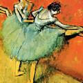 Ballet Dancers At The Barre by Heidi De Leeuw