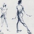Ballet Sketch Tendu Back by Beverly Brown