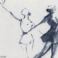 Ballet Sketch Two Dancers Mirror Image by Beverly Brown